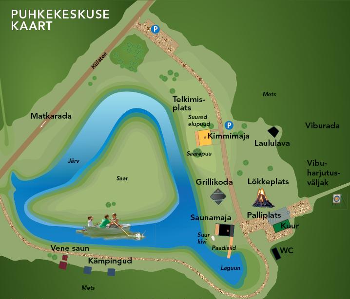 Kõveri Puhkekeskuse kaart